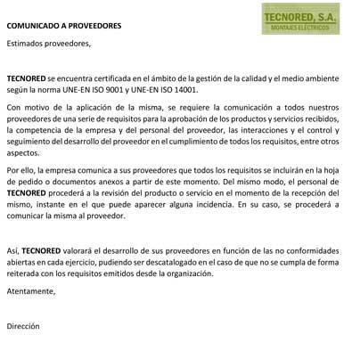.COMUNICADO A PROVEEDORES
